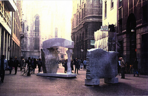 1: Arch and arched, marble, Milan 1992, h 350 cm and 230cm