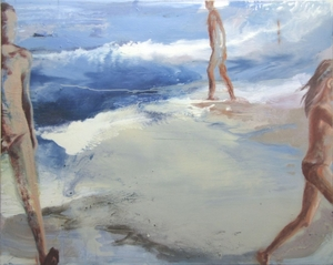 coming and going 80x100cm oil on canvas