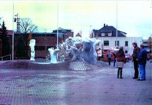 Fountain 'The source', Sarpsborg town hall, Norway
