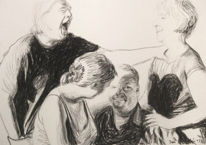 La risata - The laughter - 35x50cm