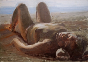Toppless 70x100cm oil on canvas 2012