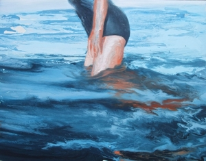 woman in water 2013 oil on canvas 80x100cm